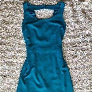 Aqua Flirty Dress